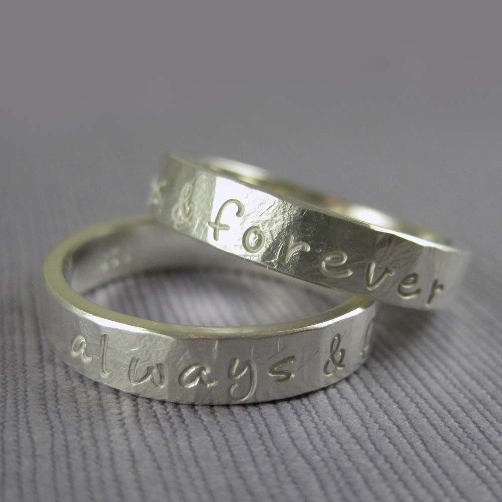 promise ring for him and always and forever ring silver