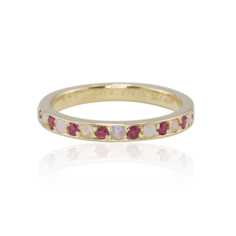 s ring 14k yellow gold birthstone s