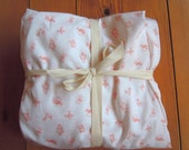 Fitted Crib Sheet, Organic Cotton, Maman Pink, Bedding, Baby