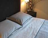 Twin Linen Cotton Duvet Cover with Piping, Bedding, Tranquility1