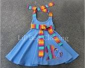 Rainbow Dash Dress, My Little Pony Dress, My Little Pong Birthday Girl Dress, Custom Boutique Girl Clothes