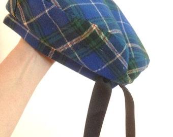 Highlander Hat Scottish Beret Tam Vintage Nova Scotia Tartan *