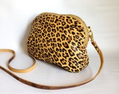 AW13 Leather bag in cheetah printed lamb skin