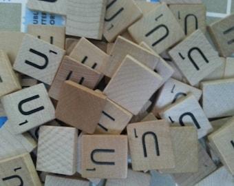 The letter U 50 scrabble tile