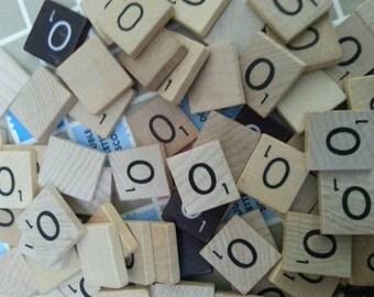 Letter O scrabble letter tiles 50