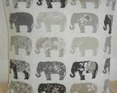 "16x16 Pillow Cover Elephants Decorative Throw Grey Charcoal Taupe Beige Cream Elephant 16"" Cushion Sham Slip Case Pillowcase New 16""x16"""