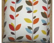 "Euro Sham Pillow Cover 26x26 Stem Leaves 26"" Cushion Case Slip Pillowcase Red Blue Orange Green Brown Mustard Cream 26"" NEW Eurosham Size"