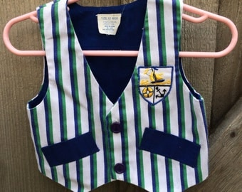 Sailor Vest 9-12 Months