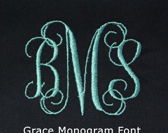 Monogram Add-On - Monogram Option - Cell Phone Wallet Wristlet Personalized Upgrade - 3 Letter Monogram - Wallet Sold Separately