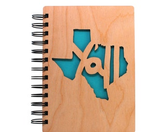 Texas Y'all - Lasercut Wood Journal
