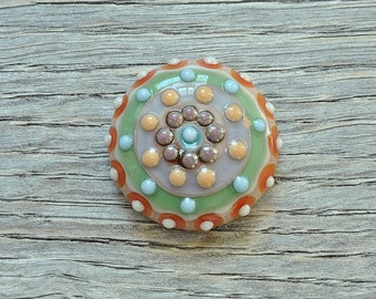 Ring Topper / Cabochon - Post-Easter - Lampwork by Loupiac