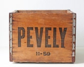 Vintage Pevely Crate, Dairy Crate