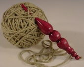 Hand Turned Exotic Purpleheart Wooden Crochet Hook Handcrafted in USA by Texas Artist Bryan Nelson