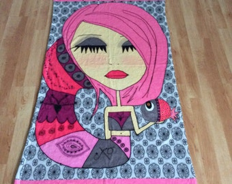 Beach Towel - I must be a mermaid.  I have no fear of depth and a great fear of shallow living.