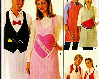 Vintage Sewing Pattern Butterick  3609 His and Hers Aprons Complete Uncut