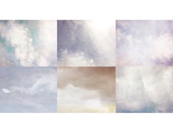 Cloud Photography, Cloud Art,  Sky Art, Landscape Photography, Fine Art Print,  Pastel Wall Decor, Nature Photography