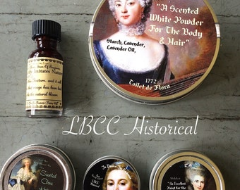 18th Century Boxed Starter Set- Historical Christmas Gift- Historical Makeup