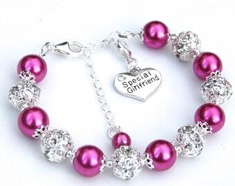 Girlfriend Gift, Girlfriend Jewelry, Gift for Girlfriend, Best Friend Jewelry, Girlfriend Charm Bracelet, Love Token, Love Jewelry