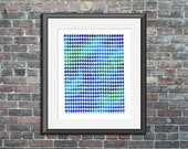 Printable poster Geometric Print Blue Houndstooth watercolor modern wall art bedroom nursery living room home decor Digital Download