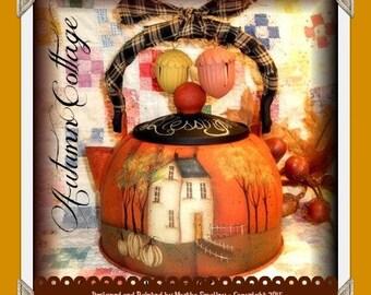Apple Tree Cottage Origanl Design E Pattern - Autumn Cottage