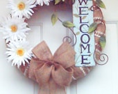 Spring Wreath / Summer Wreath / Front Door Wreath /  Mothers Day wreath .