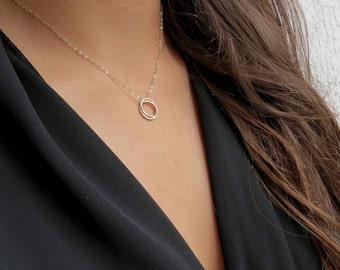 Infinity Necklace - Interlocking links, Endless,Karma Halo Necklace, Friendship Necklace, Bridal, Bridesmaids,Fine Crafted Jewelry lizix26