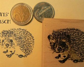 P75 Hedgehog rubber stamp