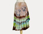 Tie Dye Womens Skirt Lotus