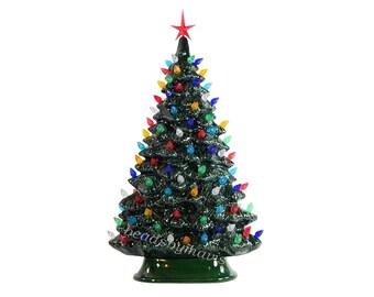 Windowsill style lighted ceramic Christmas tree Made To Order