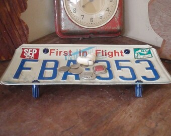 Vintage North Carolina License Plate Tray - Repurposed and Upcycled - OBX - FREE SHIPPING