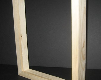 Canvas picture frame with DEEP rabbet, unfinished  wood - U pick the size needed