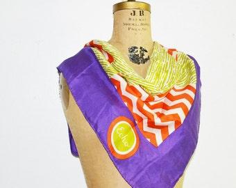 Echo silk scarf -Mod geometric scarf