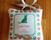 Dog Ring Pillow, Ring Bearer Pillow, Rustic, Burlap, Wedding