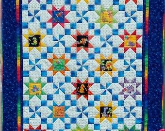 Stars & Pinwheels Quilt Pattern PDF #410e
