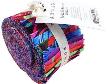 "Kaffe Fassett COLLECTIVE DUSKY 2015 Design Roll 2.5"" Precut Fabric Quilting Cotton Strips Jelly Westminster Fibers FB3DRGP.DUSKY"