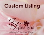 CUSTOM LISTING for aggent99 - 2 small fuchsia pink peony hair flowers
