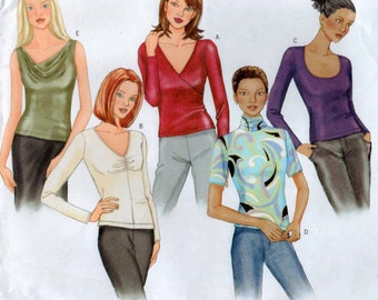 Close Fitting Tops sewing Pattern 3 sizes included Butterick 3344