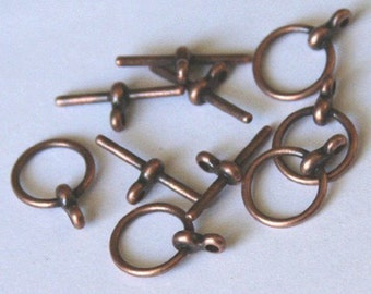 25 sets of Antiqued copper Toggle clasps