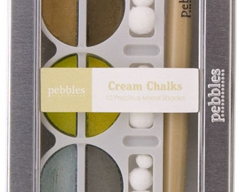 Chalks by Pebbles - 10 Piece Cream Chalks Set  - Kitsnbitscraps