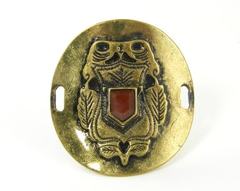 Chunky Antique Brass Bracelet Connector Jewelery Finding Owl Woodland Focal Point Statement Bracelet Jewelry Component |G10-6|1