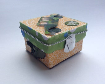 Tooth Fairy Box - Military Themed  -  Trinket Box - Personalized Children's Storage, Unique Gift, Children's room decor