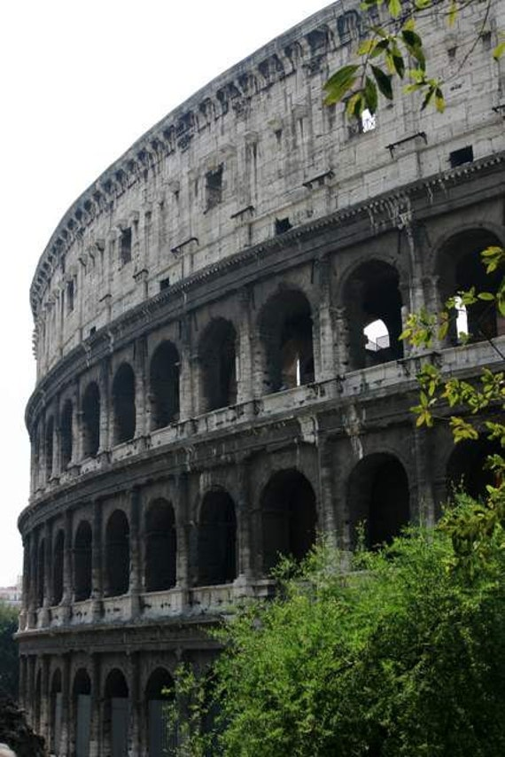 Roman Holiday - Gladiators' Hangout (Rome Colosseum Italy photography print, ancient artifact historical landmark classical architecture)
