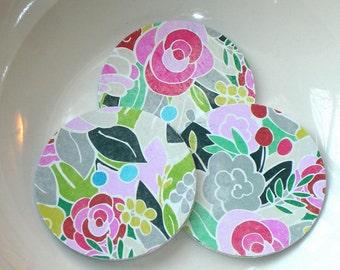 "Rose Garden 2"" Diecut Circles or Sticker Set"