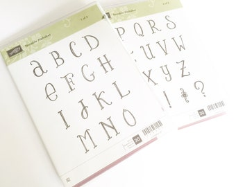 RETIRED - Notable Alphabet Stampin' Up! Stamp Set