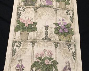 Vintage Ladies and Gentlemen and Flowers Kitchen Towel