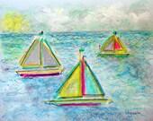 "Sailboats 11 (9"" x 12"")"