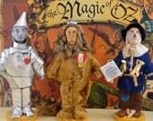 Wizard of Oz Set  Cowardly Lion, Tin Man, and Scarecrow Trio Art Miniatures