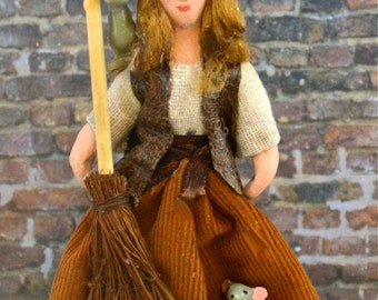 Cinderella Before the Ball Miniature Fairy Tale Art Doll Character