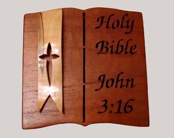 Handmade  Bible Verse Keepsake Box  Free Domestic Shipping