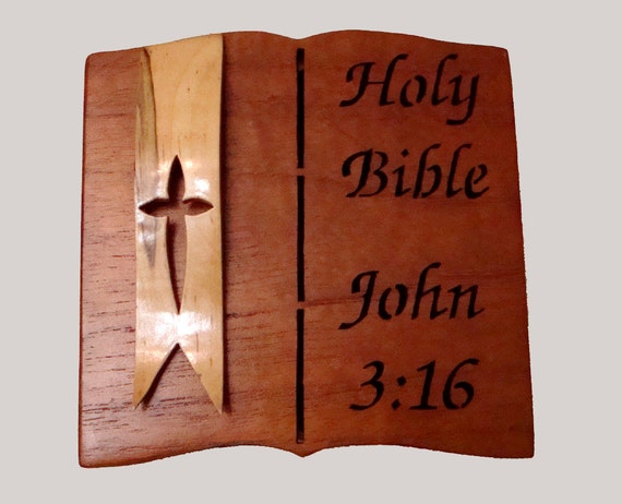 Handmade  Bible Verse Keepsake Box  Free Domestic Shipping